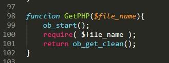 Перехватить вывод require в php, или выполнить php в file_get_contents